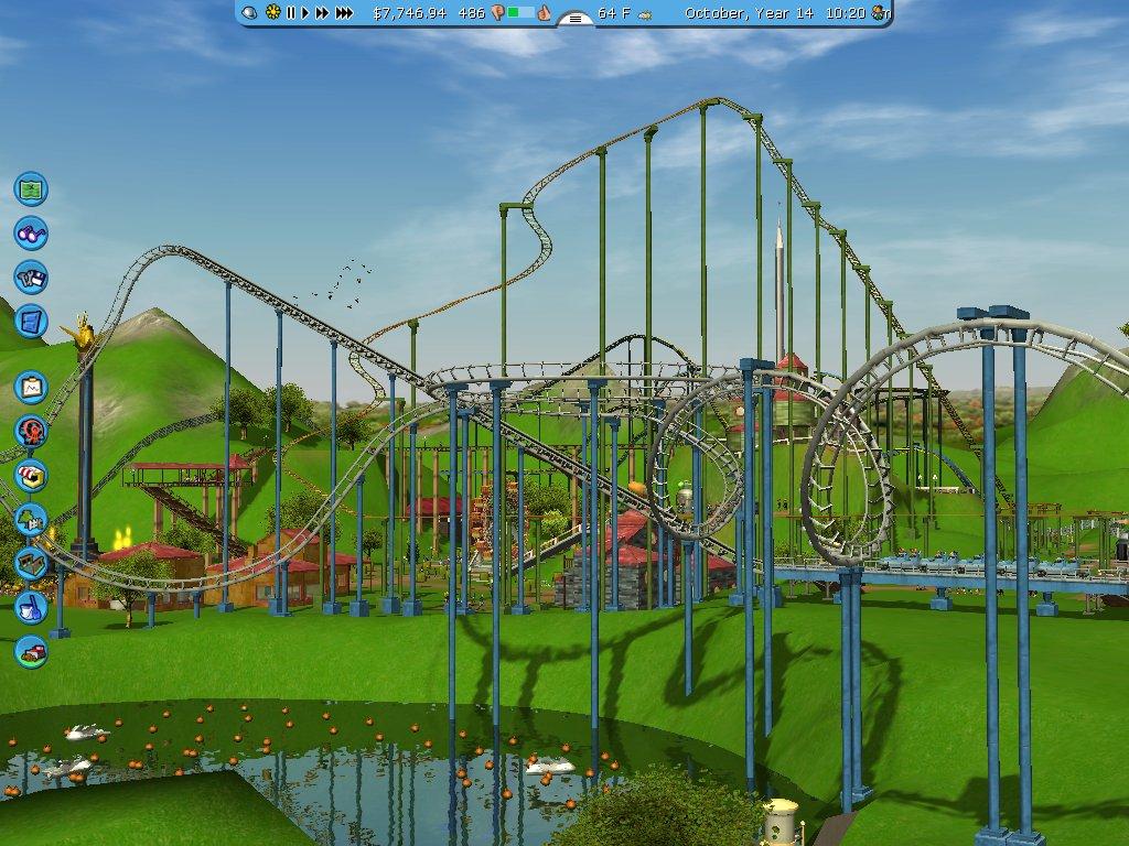 Screenshot af RollerCoaster Tycoon