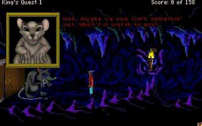 Screenshot af King's Quest 2