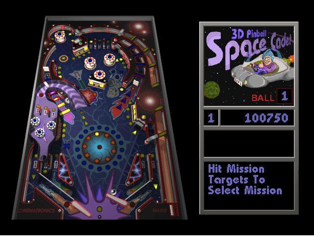 Screenshot af SpaceCadet Pinball